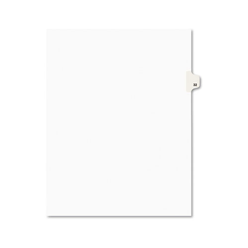 Preprinted Legal Exhibit Side Tab Index Dividers, Avery Style, 10-Tab, 32, 11 x 8.5, White, 25/Pack, (1032). Picture 1