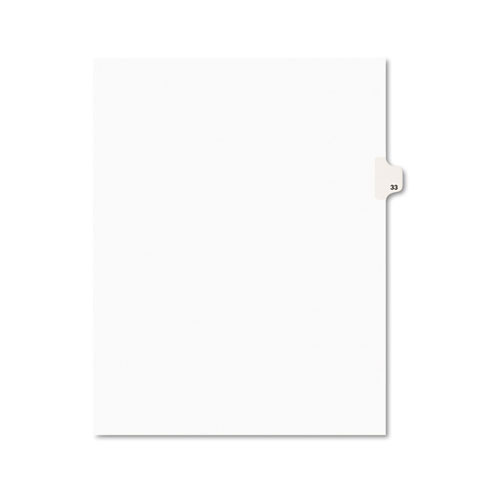 Preprinted Legal Exhibit Side Tab Index Dividers, Avery Style, 10-Tab, 33, 11 x 8.5, White, 25/Pack, (1033). Picture 1