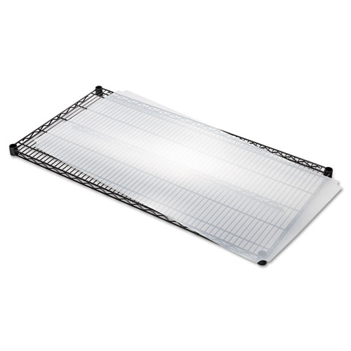 Shelf Liners For Wire Shelving, Clear Plastic, 48w x 24d, 4/Pack. Picture 6
