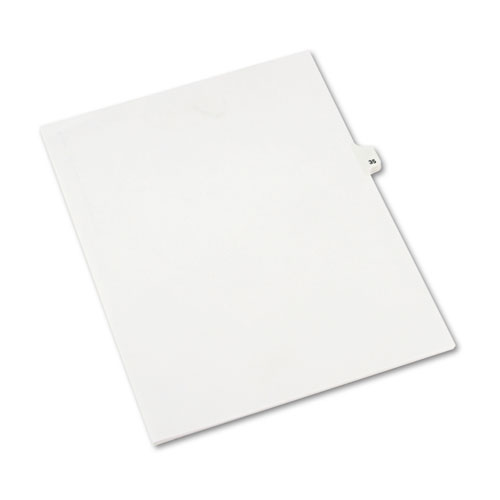 Preprinted Legal Exhibit Side Tab Index Dividers, Avery Style, 10-Tab, 35, 11 x 8.5, White, 25/Pack, (1035). Picture 2