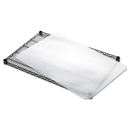 Shelf Liners For Wire Shelving, Clear Plastic, 36w x 24d, 4/Pack. Picture 3