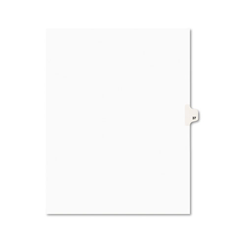 Preprinted Legal Exhibit Side Tab Index Dividers, Avery Style, 10-Tab, 37, 11 x 8.5, White, 25/Pack, (1037). The main picture.