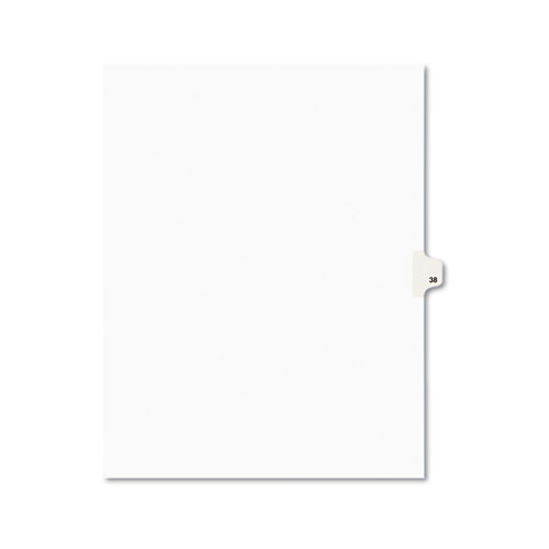 Preprinted Legal Exhibit Side Tab Index Dividers, Avery Style, 10-Tab, 38, 11 x 8.5, White, 25/Pack, (1038). Picture 1