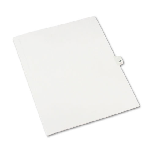 Preprinted Legal Exhibit Side Tab Index Dividers, Avery Style, 10-Tab, 39, 11 x 8.5, White, 25/Pack, (1039). Picture 2