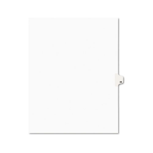 Preprinted Legal Exhibit Side Tab Index Dividers, Avery Style, 10-Tab, 39, 11 x 8.5, White, 25/Pack, (1039). Picture 1