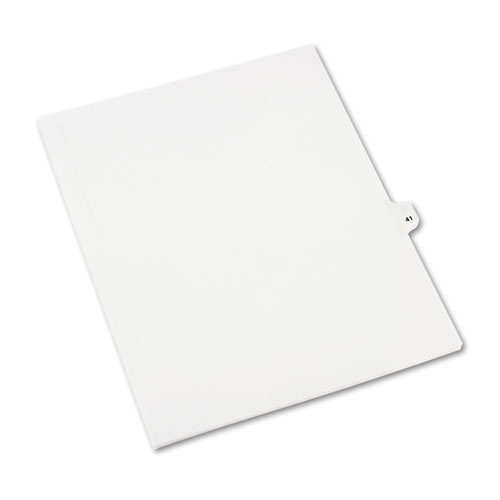 Preprinted Legal Exhibit Side Tab Index Dividers, Avery Style, 10-Tab, 41, 11 x 8.5, White, 25/Pack, (1041). Picture 2