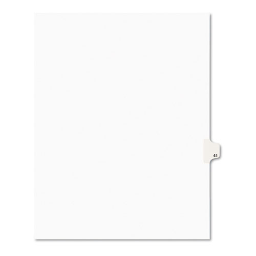 Preprinted Legal Exhibit Side Tab Index Dividers, Avery Style, 10-Tab, 41, 11 x 8.5, White, 25/Pack, (1041). Picture 1