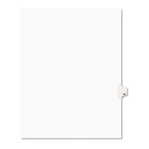 Preprinted Legal Exhibit Side Tab Index Dividers, Avery Style, 10-Tab, 42, 11 x 8.5, White, 25/Pack, (1042). Picture 1