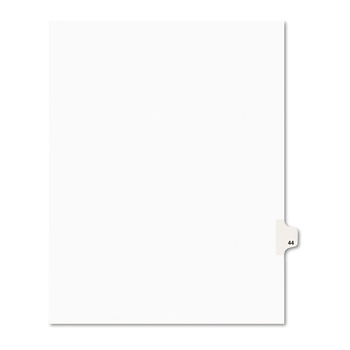 Preprinted Legal Exhibit Side Tab Index Dividers, Avery Style, 10-Tab, 44, 11 x 8.5, White, 25/Pack, (1044). Picture 1