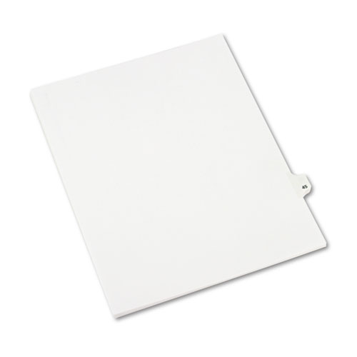 Preprinted Legal Exhibit Side Tab Index Dividers, Avery Style, 10-Tab, 45, 11 x 8.5, White, 25/Pack, (1045). Picture 2