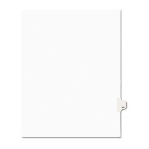 Preprinted Legal Exhibit Side Tab Index Dividers, Avery Style, 10-Tab, 45, 11 x 8.5, White, 25/Pack, (1045). Picture 1