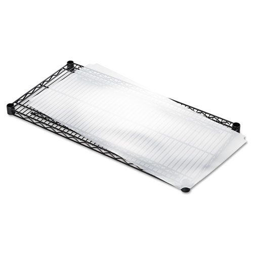 Shelf Liners For Wire Shelving, Clear Plastic, 36w x 18d, 4/Pack. Picture 3