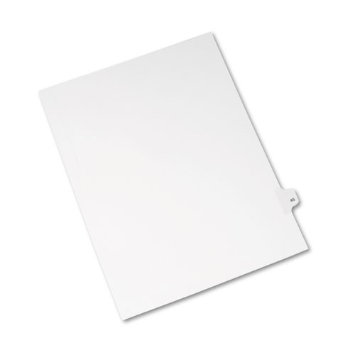 Preprinted Legal Exhibit Side Tab Index Dividers, Avery Style, 10-Tab, 46, 11 x 8.5, White, 25/Pack, (1046). Picture 2