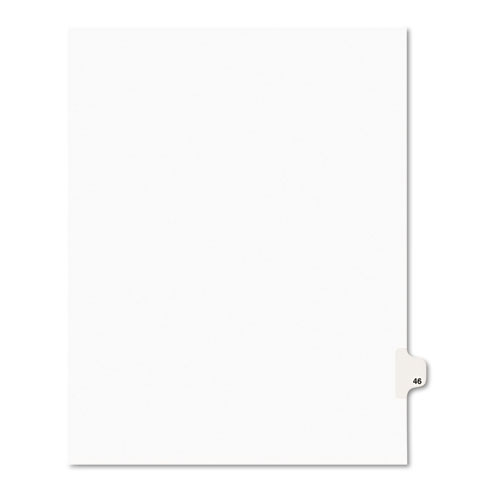 Preprinted Legal Exhibit Side Tab Index Dividers, Avery Style, 10-Tab, 46, 11 x 8.5, White, 25/Pack, (1046). Picture 1