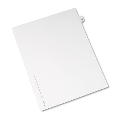 Preprinted Legal Exhibit Side Tab Index Dividers, Avery Style, 10-Tab, 48, 11 x 8.5, White, 25/Pack, (1048). Picture 2