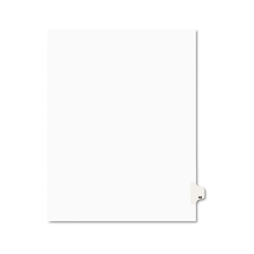Preprinted Legal Exhibit Side Tab Index Dividers, Avery Style, 10-Tab, 48, 11 x 8.5, White, 25/Pack, (1048). Picture 1
