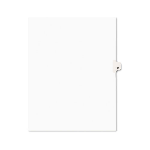 Preprinted Legal Exhibit Side Tab Index Dividers, Avery Style, 10-Tab, 61, 11 x 8.5, White, 25/Pack, (1061). Picture 1