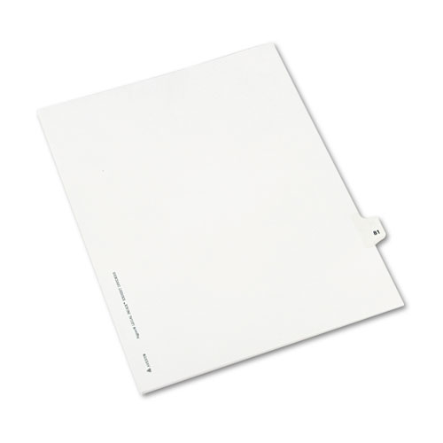 Preprinted Legal Exhibit Side Tab Index Dividers, Avery Style, 10-Tab, 81, 11 x 8.5, White, 25/Pack, (1081). Picture 2