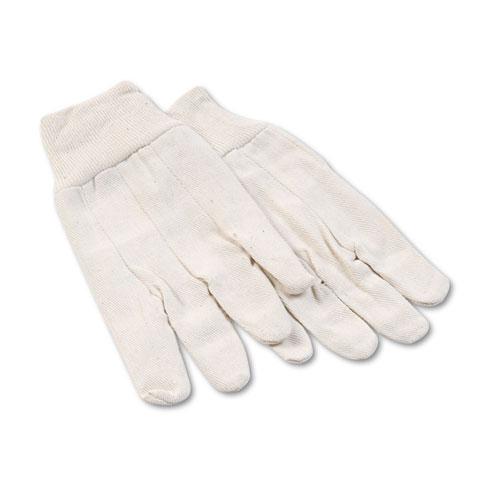 8 oz Cotton Canvas Gloves, Large, 12 Pairs. Picture 1
