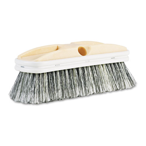 "Polystyrene Vehicle Brush w/Vinyl Bumper, 2 1/2"" Bristles, 10"" Brush. Picture 1"
