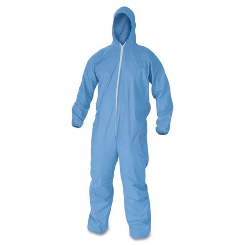 A60 Elastic-Cuff, Ankles & Back Hooded Coveralls, Blue, 2X-Large, 24/Case. Picture 1