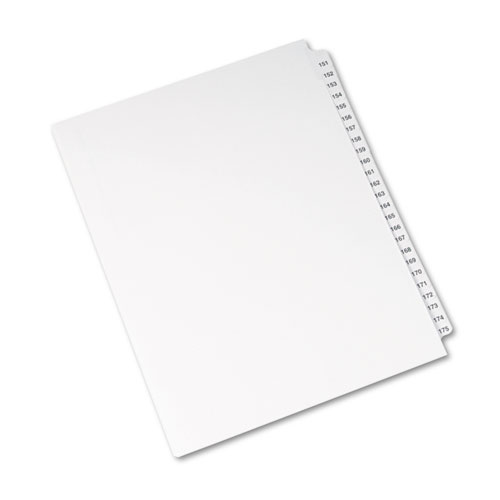 Preprinted Legal Exhibit Side Tab Index Dividers, Avery Style, 25-Tab, 151 to 175, 11 x 8.5, White, 1 Set, (1336). Picture 2