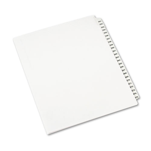 Preprinted Legal Exhibit Side Tab Index Dividers, Avery Style, 25-Tab, 251 to 275, 11 x 8.5, White, 1 Set, (1340). Picture 2