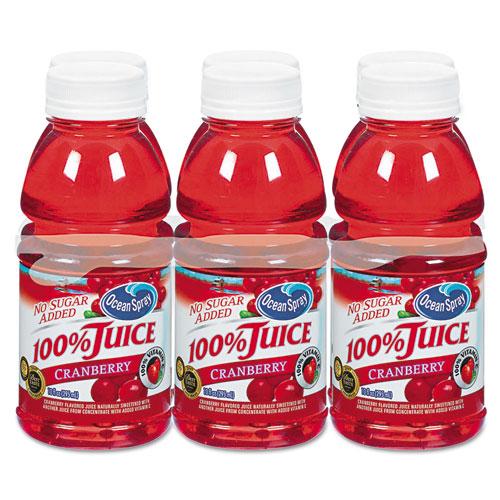 100% Juice, Cranberry, 10oz Bottle, 6/Pack. Picture 1