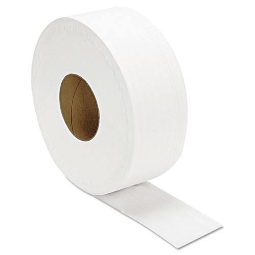 "JRT Jumbo Bath Tissue, Septic Safe, 2-Ply, White, 3.3"" x 1000 ft, 12/Carton. Picture 1"
