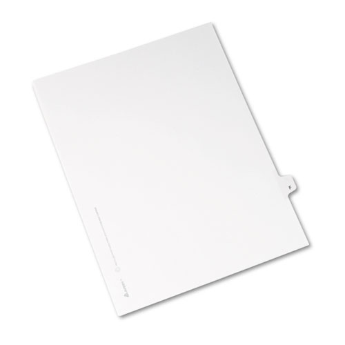 Preprinted Legal Exhibit Side Tab Index Dividers, Avery Style, 26-Tab, F, 11 x 8.5, White, 25/Pack, (1406). Picture 2