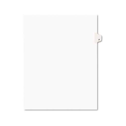Preprinted Legal Exhibit Side Tab Index Dividers, Avery Style, 26-Tab, F, 11 x 8.5, White, 25/Pack, (1406). Picture 1