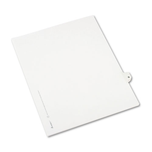 Preprinted Legal Exhibit Side Tab Index Dividers, Avery Style, 26-Tab, G, 11 x 8.5, White, 25/Pack, (1407). Picture 2