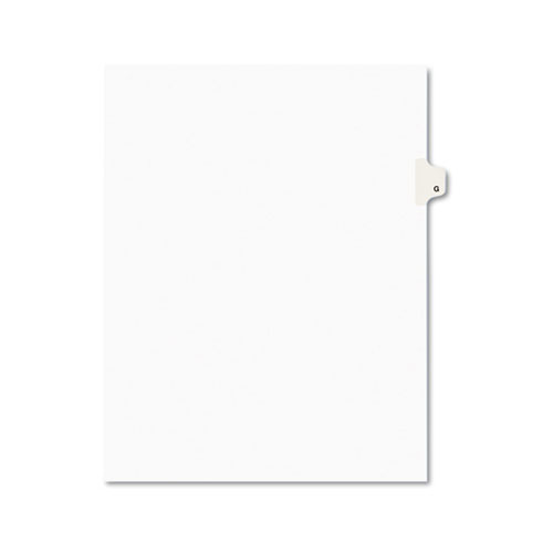 Preprinted Legal Exhibit Side Tab Index Dividers, Avery Style, 26-Tab, G, 11 x 8.5, White, 25/Pack, (1407). Picture 1