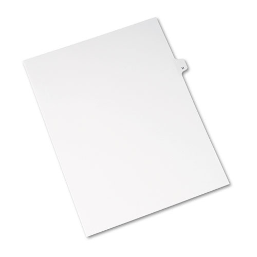 Preprinted Legal Exhibit Side Tab Index Dividers, Avery Style, 26-Tab, H, 11 x 8.5, White, 25/Pack, (1408). Picture 2