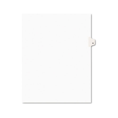 Preprinted Legal Exhibit Side Tab Index Dividers, Avery Style, 26-Tab, H, 11 x 8.5, White, 25/Pack, (1408). Picture 1