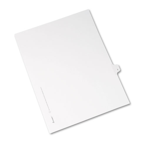 Preprinted Legal Exhibit Side Tab Index Dividers, Avery Style, 26-Tab, I, 11 x 8.5, White, 25/Pack, (1409). Picture 2
