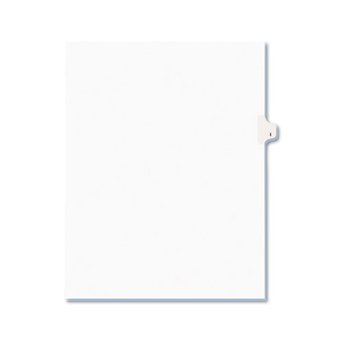 Preprinted Legal Exhibit Side Tab Index Dividers, Avery Style, 26-Tab, I, 11 x 8.5, White, 25/Pack, (1409). Picture 1