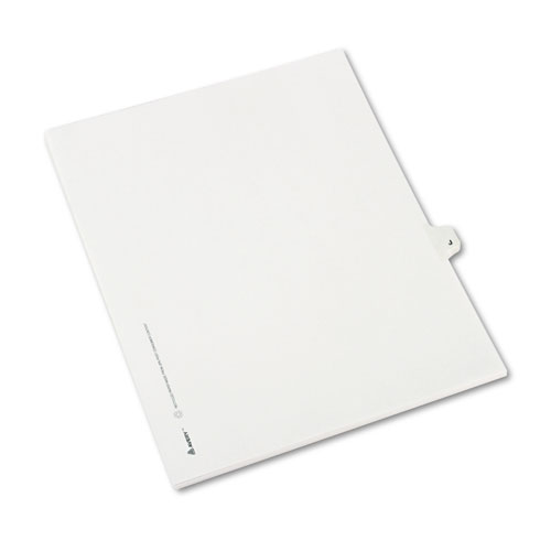 Preprinted Legal Exhibit Side Tab Index Dividers, Avery Style, 26-Tab, J, 11 x 8.5, White, 25/Pack, (1410). Picture 2
