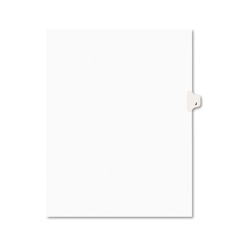 Preprinted Legal Exhibit Side Tab Index Dividers, Avery Style, 26-Tab, J, 11 x 8.5, White, 25/Pack, (1410). Picture 1