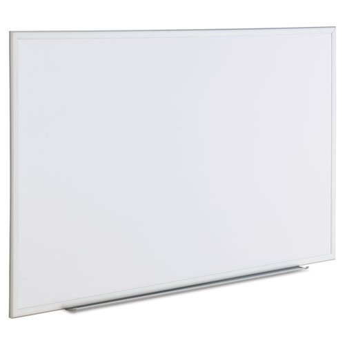 Dry Erase Board, Melamine, 60 x 36, Satin-Finished Aluminum Frame. Picture 2