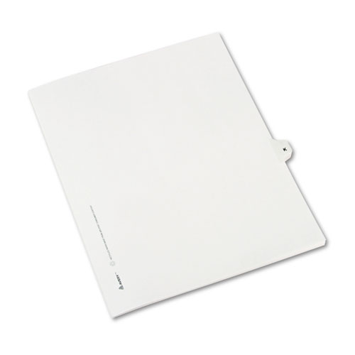 Preprinted Legal Exhibit Side Tab Index Dividers, Avery Style, 26-Tab, K, 11 x 8.5, White, 25/Pack, (1411). Picture 2