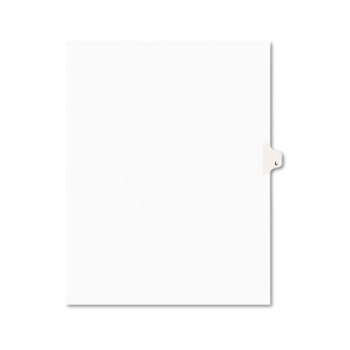 Preprinted Legal Exhibit Side Tab Index Dividers, Avery Style, 26-Tab, L, 11 x 8.5, White, 25/Pack, (1412). Picture 1