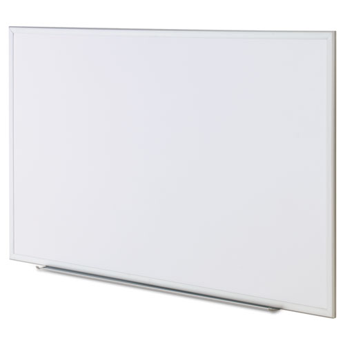 Dry Erase Board, Melamine, 60 x 36, Satin-Finished Aluminum Frame. Picture 3
