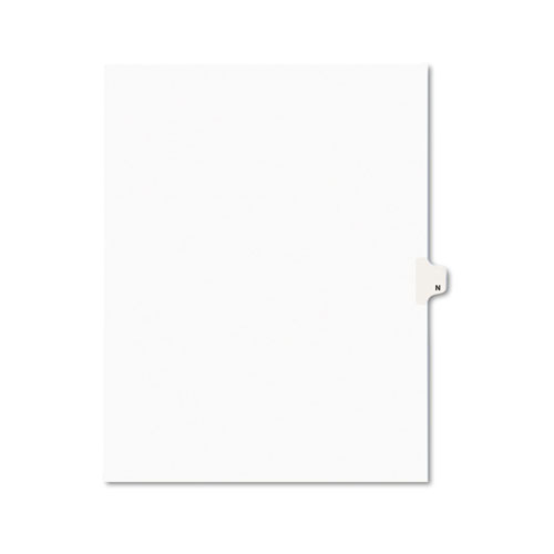 Preprinted Legal Exhibit Side Tab Index Dividers, Avery Style, 26-Tab, N, 11 x 8.5, White, 25/Pack, (1414). Picture 1