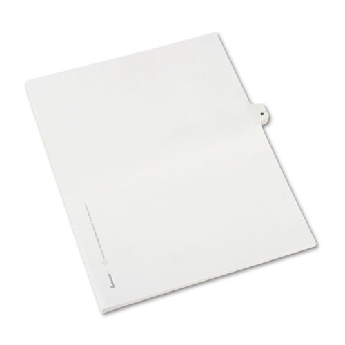 Preprinted Legal Exhibit Side Tab Index Dividers, Avery Style, 26-Tab, P, 11 x 8.5, White, 25/Pack, (1416). Picture 2