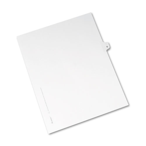 Preprinted Legal Exhibit Side Tab Index Dividers, Avery Style, 26-Tab, Q, 11 x 8.5, White, 25/Pack, (1417). Picture 2