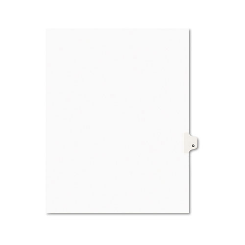 Preprinted Legal Exhibit Side Tab Index Dividers, Avery Style, 26-Tab, Q, 11 x 8.5, White, 25/Pack, (1417). Picture 1