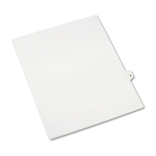 Preprinted Legal Exhibit Side Tab Index Dividers, Avery Style, 26-Tab, S, 11 x 8.5, White, 25/Pack, (1419). Picture 2