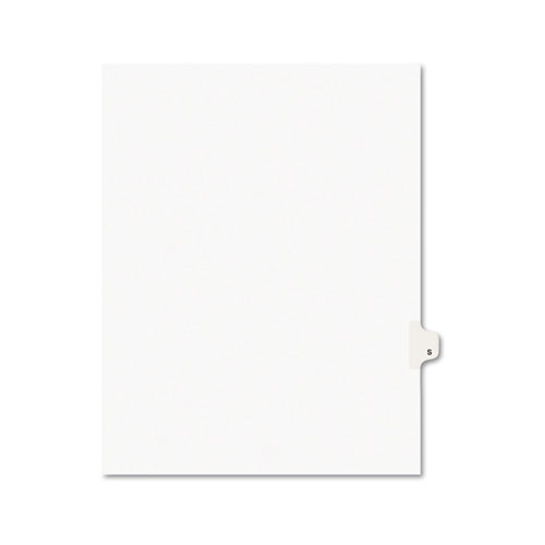 Preprinted Legal Exhibit Side Tab Index Dividers, Avery Style, 26-Tab, S, 11 x 8.5, White, 25/Pack, (1419). Picture 1