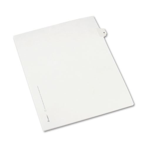 Preprinted Legal Exhibit Side Tab Index Dividers, Avery Style, 26-Tab, V, 11 x 8.5, White, 25/Pack, (1422). Picture 2
